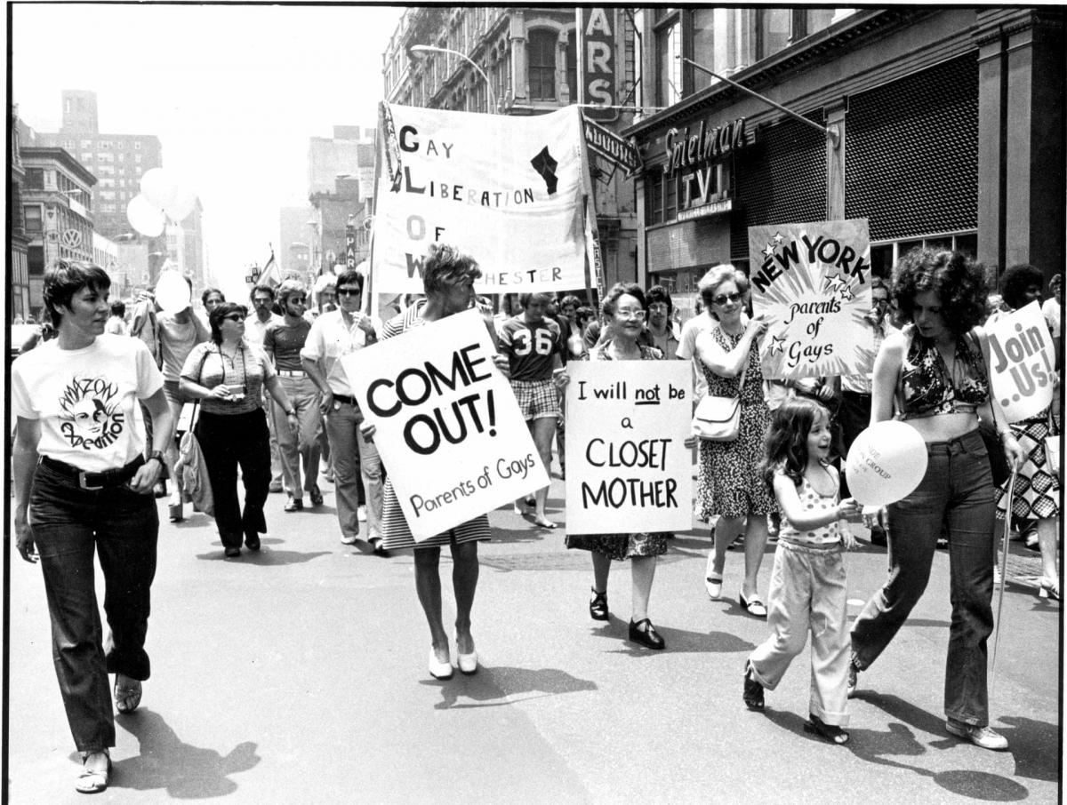 تظاهرات در پی «اغتشاشات استونوال»، اوایل دههی 1970. عکاس: لئونارد فینک/thegaycenter.org